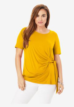 Side-Tie Tee, SUNSET YELLOW