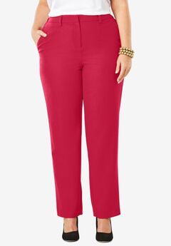 Wool-Blend Trousers, CLASSIC RED