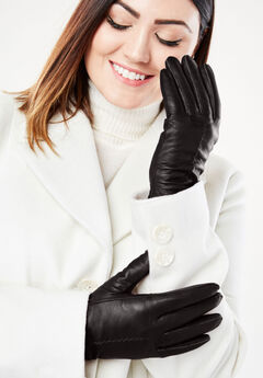 Leather Gloves, BLACK