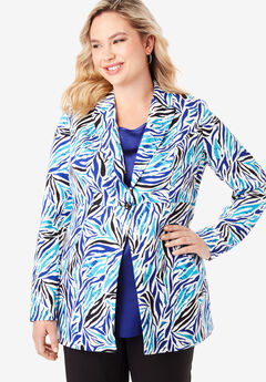 Bi-Stretch Blazer, ULTRA BLUE ZEBRA