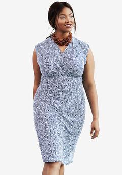 Faux Wrap Dress,