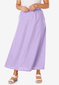 Linen Maxi Skirt, BRIGHT LILAC