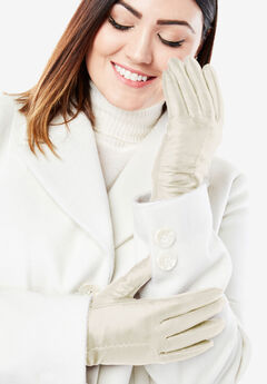 Leather Gloves, IVORY
