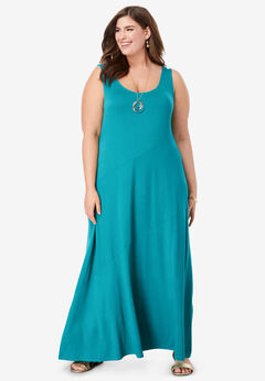 Tank Maxi Dress, DEEP TURQUOISE