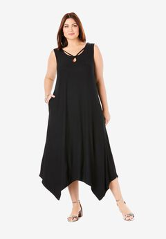 Knit Maxi Dress, BLACK