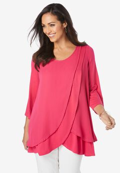 Double Layer Tunic, PINK BURST