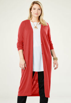 Fine Gauge Duster Sweater,