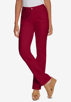 True Fit Straight Leg Jeans, RICH BURGUNDY