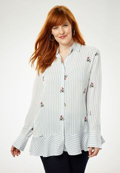 Embroidered Rayon Tunic,