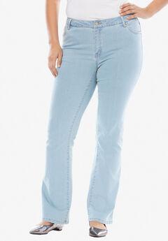 True Fit Bootcut Jeans , BLEACH WASH