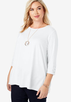 Lace-up Sleeve Tunic,