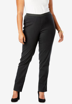 Straight Leg Stretch Denim Jeggings, BLACK