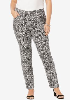 Comfort Waistband Jeans, CLASSIC CHEETAH
