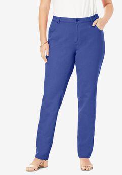 Classic Cotton Denim Straight Jeans, PURPLE TULIP