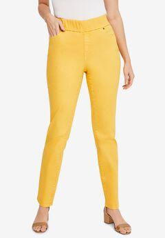 Comfort Waistband Jeans, SUNSET YELLOW