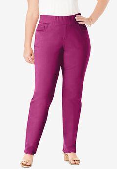 Comfort Waistband Jeans, RASPBERRY