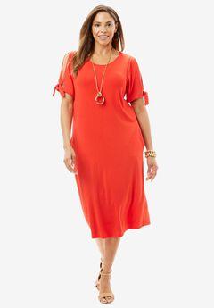 Cold Shoulder Midi Dress,