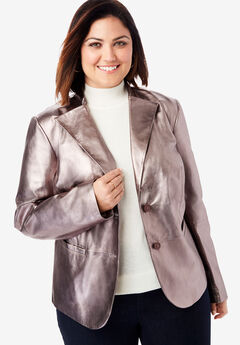 Peplum Jacket, METALLIC PEWTER