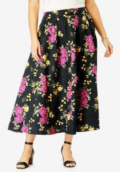 Floral Skirt, BLACK BOUQUET