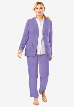 Single Breasted Pant Suit, VINTAGE LAVENDER