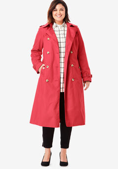 Long Trench Coat, PEPPER RED