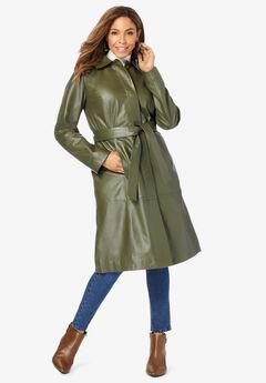 Trench Coat, DARK OLIVE GREEN