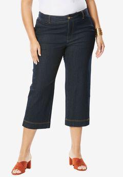 Wide Leg Cropped Jean,