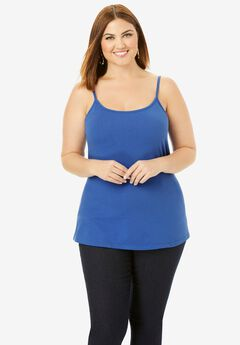 Cami Top with Adjustable Straps, TRUE BLUE