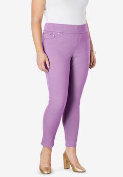Comfort Waist Skinny Ankle Jean, AMETHYST