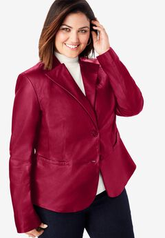 Peplum Jacket, RICH BURGUNDY