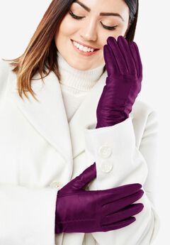 Leather Gloves, DARK BERRY