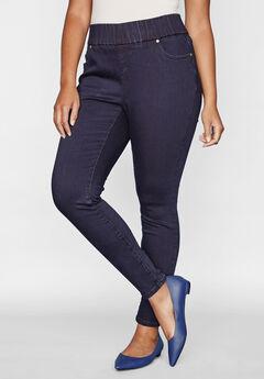 Comfort Waistband Skinny Jeans,