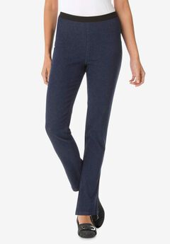 Straight Stretch Denim Jeggings, INDIGO WASH