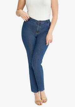 True Fit Straight Leg Jeans, MEDIUM STONEWASH
