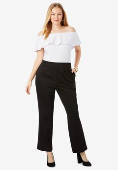 Ponte Colorblock Jumpsuit, BLACK WHITE COLORBLOCK