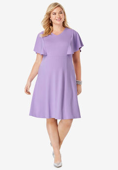 Flutter Sleeve Dress,