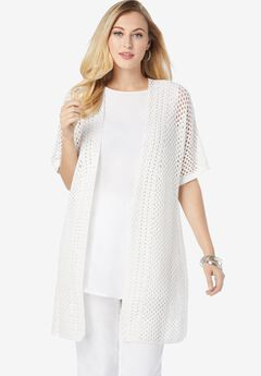 Crochet Long Cardigan,