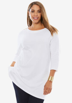 Boatneck Tunic, WHITE