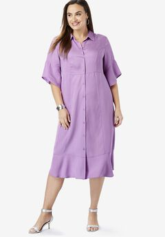 Tencel® Shirtdress, AMETHYST