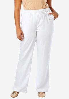 Tencel® Wide-Leg Pant, WHITE