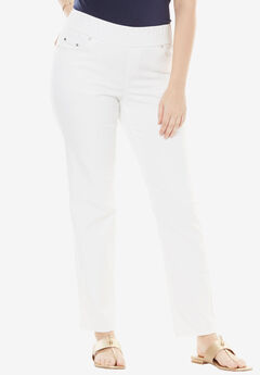 Comfort Waistband Jeans, WHITE