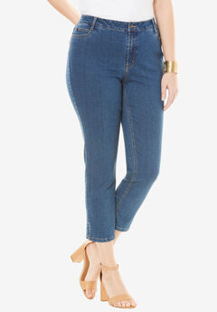 True Fit Ankle Jean, MEDIUM STONEWASH