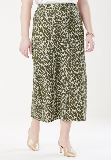 Classic Cotton Denim Long Skirt