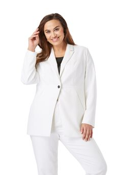 Bi-Stretch Blazer, WHITE
