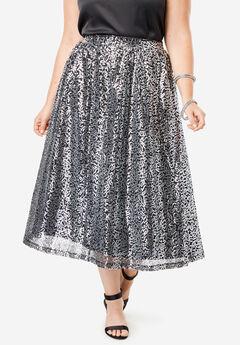 Sequin Skirt, SILVER SEQUIN