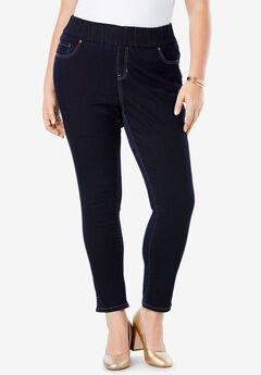 Comfort Waist Skinny Ankle Jean, INDIGO