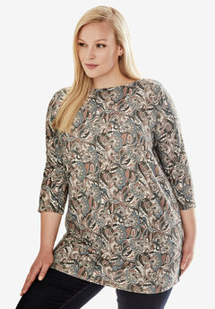 Boatneck Tunic, PAISLEY SPLASH