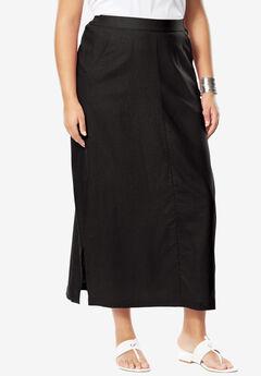 A-Line Linen Skirt,