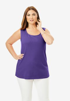 Horseshoe Neck Tank, MIDNIGHT VIOLET