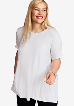 Hi-Low Back Pleat Tunic,